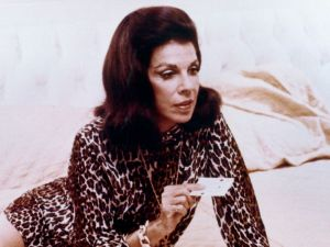 A portrait of the author, Jacqueline Susann, taken from her husband Irving Mansfield's book.
