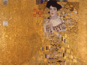 Portrait of Adele Bloch-Bauer I, 1907 Gold, silver, and oil on canvas Neue Galerie New York. Acquired through the generosity of Ronald S. Lauder, the heirs of the Estates of Ferdinand and Adele Bloch-Bauer, and the Estée Lauder Fund