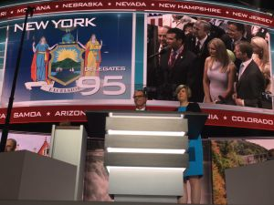 Donald Trump Jr. and his kin on the jumbotron at the GOP convention.