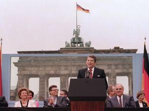 President Ronald Reagan, a former actor, understood political stagecraft.
