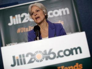 Green Party presidential nominee Jill Stein.