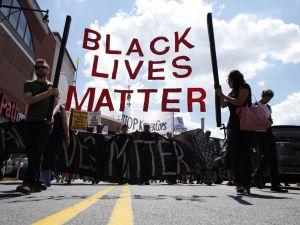 Demonstrators in Brooklyn last year.