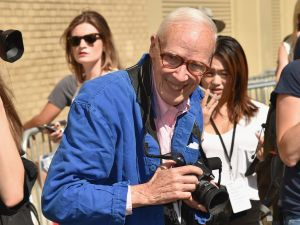 NEW YORK, NY - SEPTEMBER 17: Bill Cunningham attends Ralph Lauren Spring 2016 during New York Fashion Week: The Shows at Skylight Clarkson Sq on September 17, 2015 in New York City.