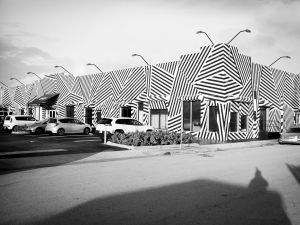 A building near Wynwood Walls during Art Week Miami 2015 on December 2, 2015 in Miami, Florida.