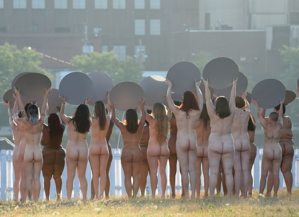 Artist Stages Nude Protest Outside Republican Convention, 3 NY Museums Offer Buyouts