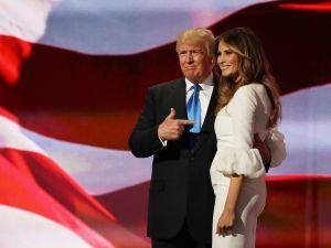 Donald and Melania Trump last night.