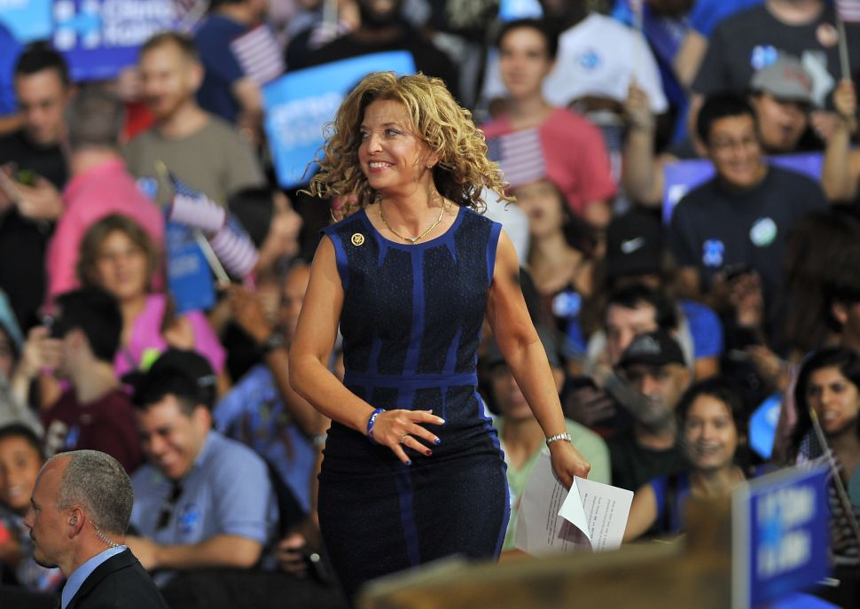 Debbie Wasserman Schultz Haunts the First Day of Democratic National Convention