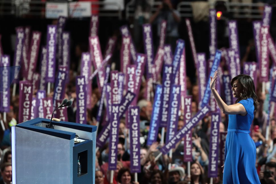 Michelle Obama Unites a Divided Democratic National Convention