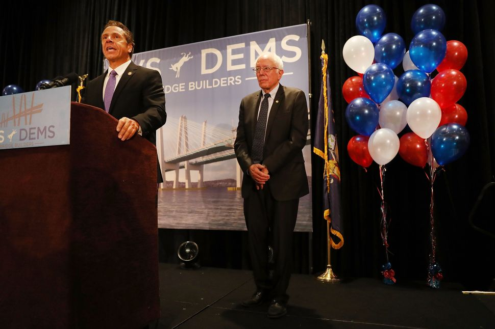 Andrew Cuomo Wants to Bring Bernie Sanders' 'Revolution' to New York Public Colleges