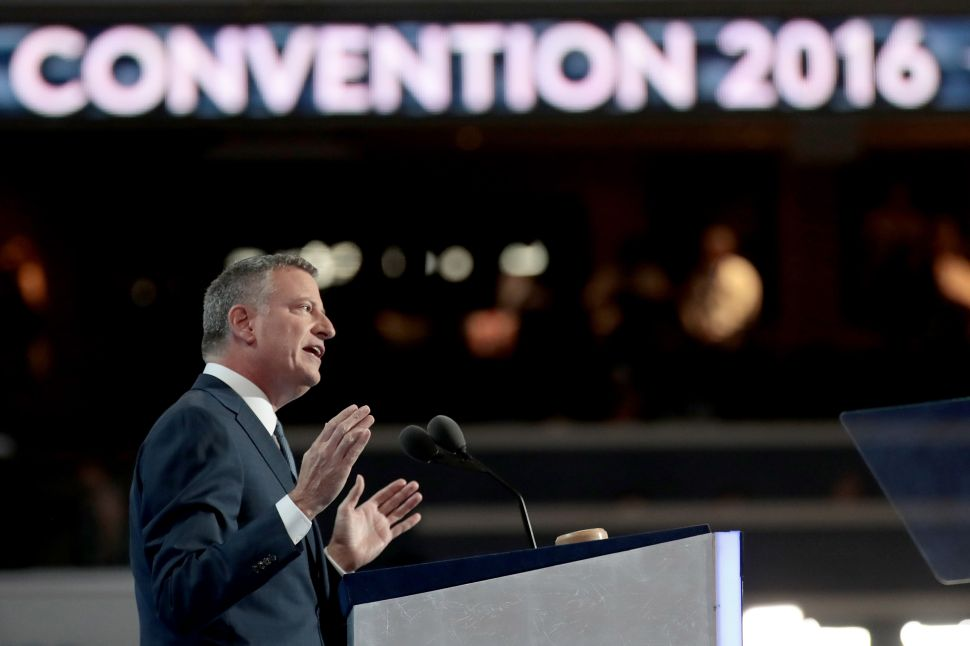 Bill de Blasio Has His Not-Quite-Primetime Moment at the DNC