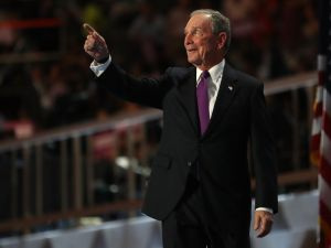 Former Mayor Michael Bloomberg onstage at the Democratic Convention.