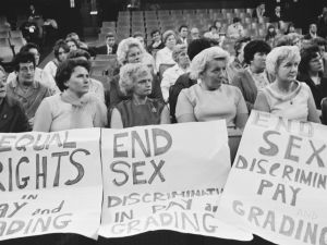 Machinists working for Ford Motors attending a Women's Conference on equal rights in industry at Friends House in Euston, 28th June 1968.