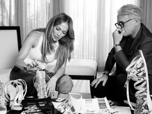 A designer and a pop star deep in thought