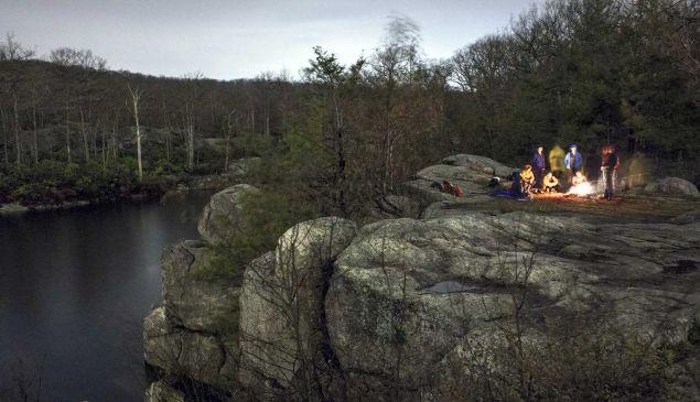 A night hike and marshmallow roast.