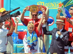 Reigning champion Miki Sudo reclaims her title at Nathan's annual competition.