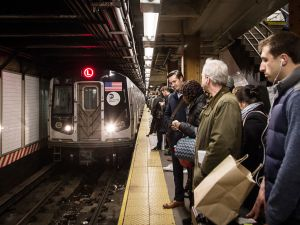 The L train is one of the most crowded subway lines in the city.