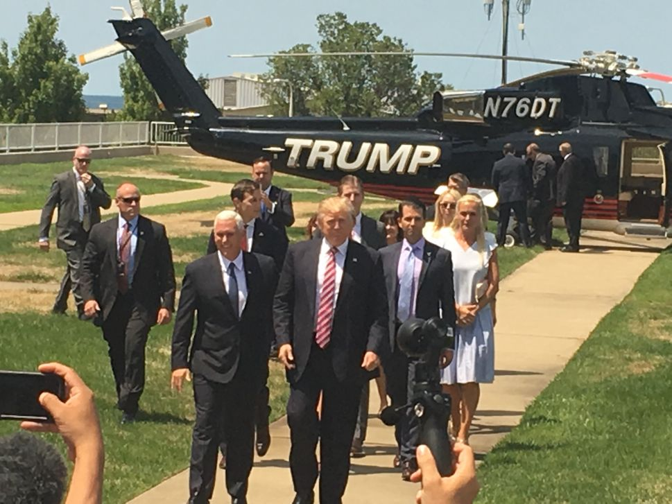 Donald Trump Touches Down in Cleveland…Again