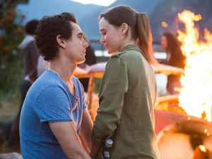 Max Minghella and Ellen Page in Into the Forest.