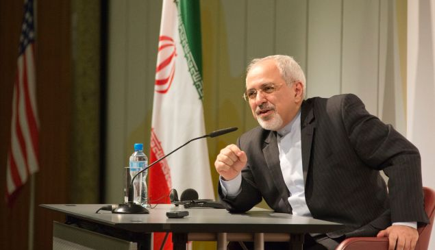 Iranian Foreign Minister Zarif in Geneva, Switzerland, November 24, 2013.