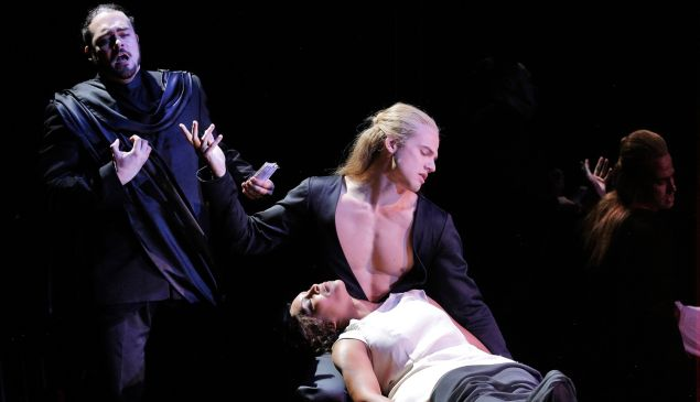 Osaka and Kyoto haggle over the sexual favors of the unconscious Iris at Bard SummerScape.