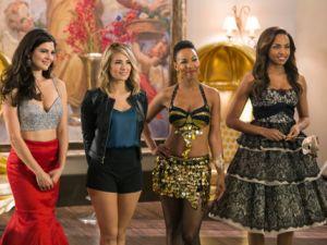(L-R) Monica Barbaro as Yael, Kim Matula as Tiffany James, Karissa Tynes as Jameson and Megan Tandy as Chantal.