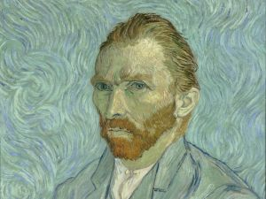 A self-portrait by Vincent van Gogh.