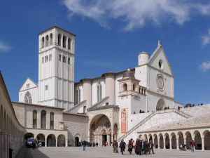 Papal Basilica of St. Francis of Assisi in Umbria, Italy.