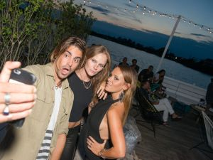 Oliver Benz, Kate Nauta, and Surf Lodge creative director Sasha Benz.