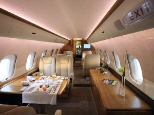 Inside a Challenger 850