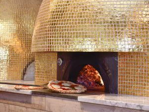 One of the three wood-burning ovens at the new Eataly.