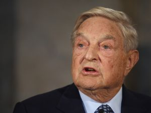 "BERLIN, GERMANY - SEPTEMBER 10: Billionaire investor George Soros speaks on ""The Tragedy of the European Union"""