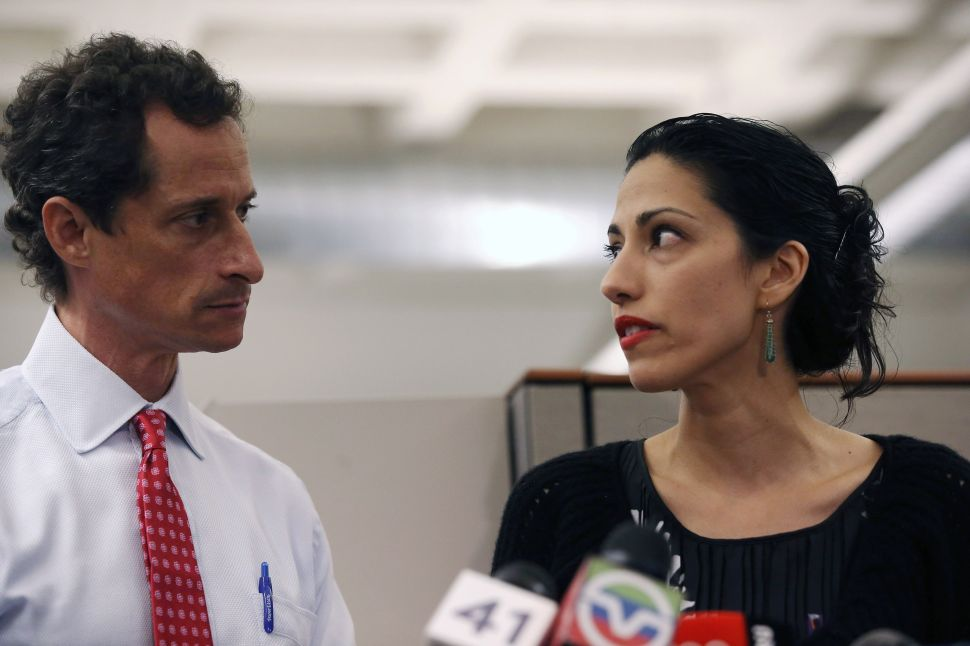 Anthony and Huma Are Not Bill and Hillary