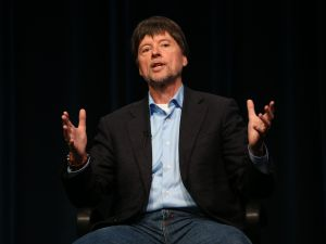 Filmmaker Ken Burns speaks onstage during the PBS Press tour 'Ken Burns's The Roosevelts: An Intimate History' panel on July 22, 2014 in Beverly Hills, California.