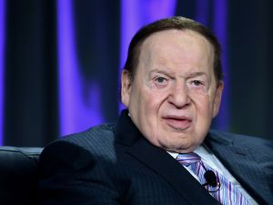 Casino mogul and Trump donor Sheldon Adelson.