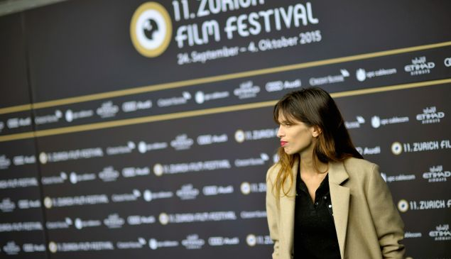 Director Maiwenn at Mon Roi premiere, Zurich Film Festival.