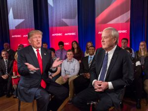 "ABORTION PUNISHMENTS It was at this point that Donald Trump's strategy of just winging it on policy started to hurt him. But by the time he told Chris Matthews on March 30, 2016 that he thought there ""has to be some form of punishment"" for women who undergo abortions, it was too late to stop him from becoming the GOP nominee. The gaffe locked in a now-familiar pattern of him having to spend days disowning his outrageous statements instead of doubling down on them. And that sucks up precious airtime that could be used to call attention to Hillary Clinton's vulnerabilities. This comment also didn't help lift his rock-bottom favorability ratings among women."