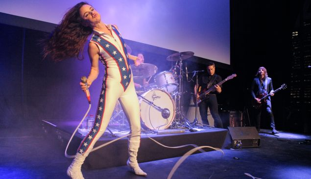 Juliette Lewis with her band The Licks performing during the 2016 Tribeca Film Festival Shorts.