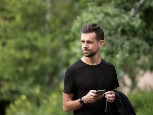 SUN VALLEY, ID - JULY 6: Jack Dorsey, co-founder and chief executive officer of Twitter, attends the annual Allen & Company Sun Valley Conference, July 6, 2016 in Sun Valley, Idaho. Every July, some of the world's most wealthy and powerful businesspeople from the media, finance, technology and political spheres converge at the Sun Valley Resort for the exclusive weeklong conference.