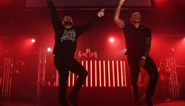 Drake and Future perform on stage at Gucci and Friends Homecoming Concert at Fox Theatre on July 22, 2016 in Atlanta, Georgia.