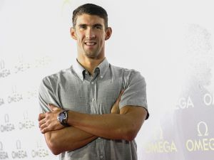 Michael Phelps and his OMEGA watch