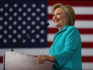 RENO, NV - AUGUST 25: Democratic presidential nominee former Secretary of State Hillary Clinton speaks during a campaign even at Truckee Meadows Community College on August 25, 2016 in Reno, Nevada. Hillary Clinton delivered a speech about republican presidential nominee Donald Trump's policies.