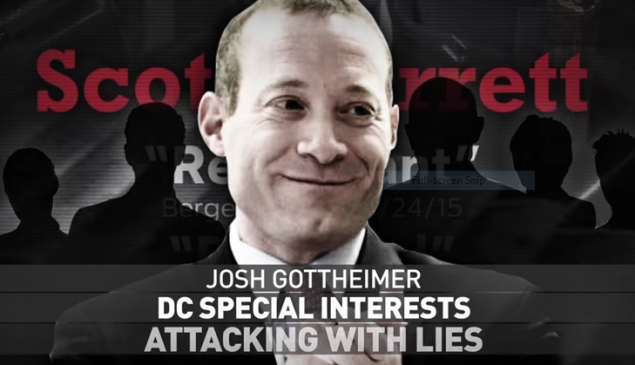 Garrett goes up on TV with an ad targeting challenger Gottheimer.