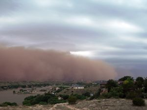 African sand storm.