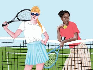 This is how you do tennis chic