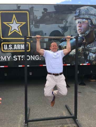 Gottheimer Challenges Garrett… on the Pull-Up Bar