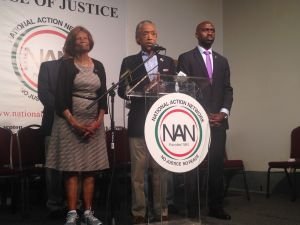 Rev. Al Sharpton addresses Police Commissioner Bill Bratton's resignation at the National Action Network.