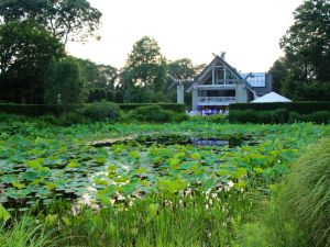 Textile designer Jack Lenor Larsen's LongHouse sculpture garden