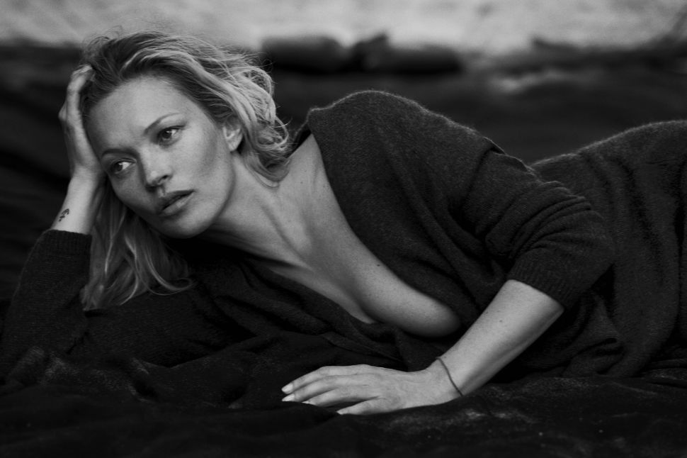Kate Moss Gets Nearly Naked for a New Cashmere Company