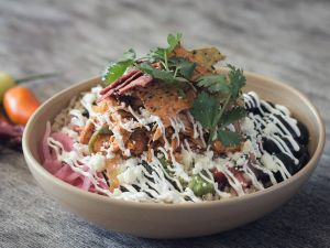 The Oaxacamole bowl at Beefsteak comes with salsa verde, black beans, avocado, pico de gallo and cilantro.