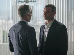 Patrick St. Esprit as Randall Dyckman and Liev Schreiber as Ray Donovan.